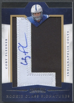 "2012 Panini Prominence #248 Coby Fleener Rookie Letter ""L"" Patch Auto #037/175"