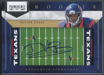 2012 Panini Prominence #218 DeVier Posey Rookie NFL Field Auto #089/200