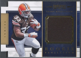 2012 Panini Prominence #11 Trent Richardson Rookie Projection Materials Jersey #098/299
