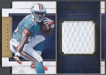 2012 Panini Prominence #13 Lamar Miller Rookie Projection Materials Jersey #232/299