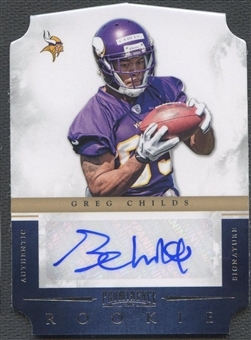 2012 Panini Prominence #191 Greg Childs Rookie Auto #197/199