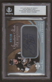 2012/13 Leaf Best of Sidney Crosby Auto 07/08 UD Sweet Shot Signature Shots # /100