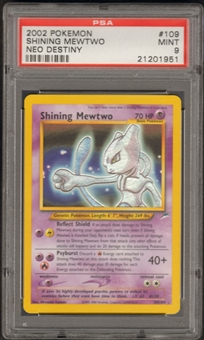 Pokemon Neo Destiny Single Shining Mewtwo 109/105 - PSA 9
