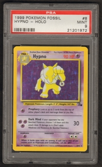 Pokemon Fossil Single Hypno 8/62 - PSA 9