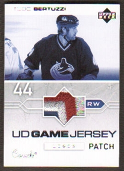 2003/04 Upper Deck Todd Bertuzzi Game Jersey Logo Patch Seam 3 Color Rare