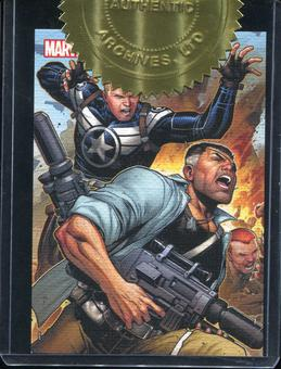 2013 Rittenhouse Marvel Greatest Battles Secret Warriors Case Toppers #CT2 Captain America and Nick Fury