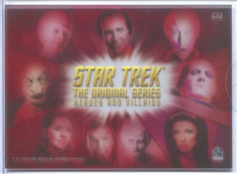 2013 Rittenhouse Star Trek The Original Series Heroes and Villains Montage Case Toppers #CT2 Villains Montage