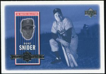 2000 Upper Deck Brooklyn Dodgers Master Collection #BD2 Duke Snider /250
