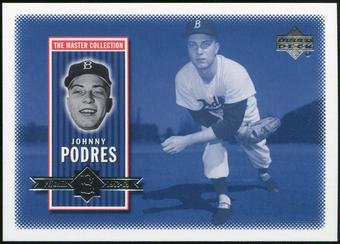 2000 Upper Deck Brooklyn Dodgers Master Collection #BD14 Johnny Podres /250