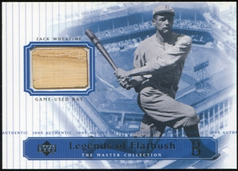 2000 Upper Deck Brooklyn Dodgers Master Collection Legends of Flatbush #LOF6 Zach Wheat Bat /250