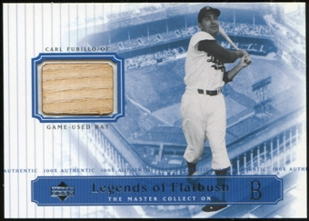 2000 Upper Deck Brooklyn Dodgers Master Collection Legends of Flatbush #LOF7 Carl Furillo Bat /250