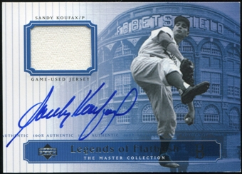 2000 Upper Deck Brooklyn Dodgers Master Collection Legends of Flatbush #LOF11 Sandy Koufax Jersey Autograph /2