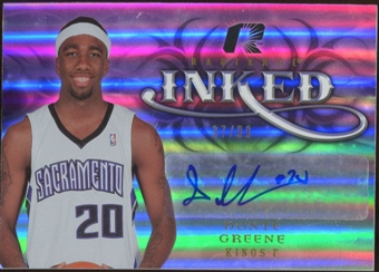 2008/09 Upper Deck Radiance Inked #IDG Donte Greene Autograph /99