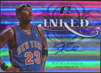 2008/09 Upper Deck Radiance Inked #IQR Quentin Richardson Autograph 63/99