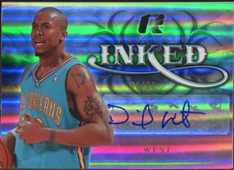2008/09 Upper Deck Radiance Inked #IWE David West Autograph 6/99