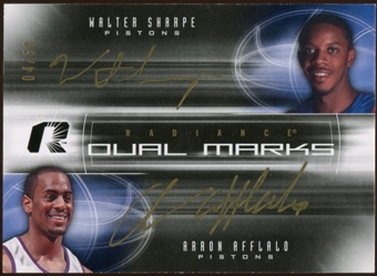 2008/09 Upper Deck Radiance Marks Dual #DMSA Walter Sharpe Arron Afflalo Autograph /50