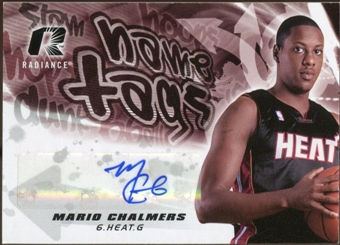 2008/09 Upper Deck Radiance Name Tag Autographs #NTMC Mario Chalmers