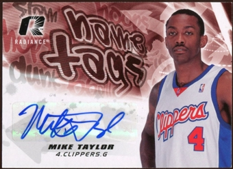2008/09 Upper Deck Radiance Name Tag Autographs #NTMT Mike Taylor