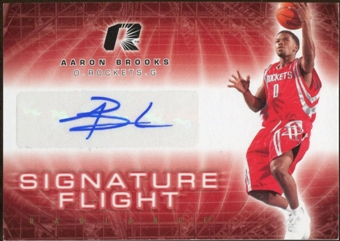 2008/09 Upper Deck Radiance Signature Flight #SFAB Aaron Brooks Autograph