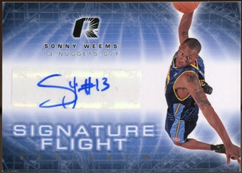 2008/09 Upper Deck Radiance Signature Flight #SFSW Sonny Weems Autograph