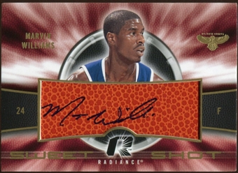 2008/09 Upper Deck Radiance Sweet Shot Autographs #SSMW Marvin Williams