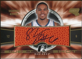 2008/09 Upper Deck Radiance Sweet Shot Autographs #SSSB Shannon Brown