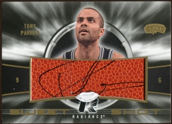 2008/09 Upper Deck Radiance Sweet Shot Autographs #SSTP Tony Parker