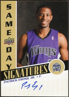 2008/09 Upper Deck Same Day Signatures #RPSPE Patrick Ewing Jr.
