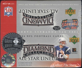 2004 Upper Deck Diamond Collection All-Star Lineup Football 24 Pack Box