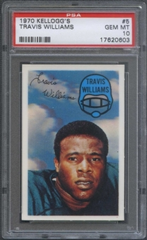 1970 Kellogg's Football #5 Travis Williams PSA 10 (GEM MT) *0603
