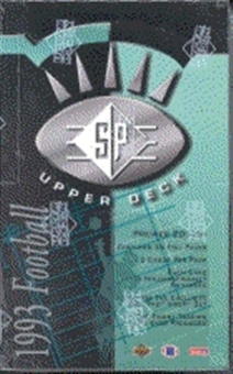 1993 Upper Deck SP Football Hobby Box