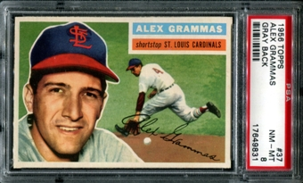 1956 Topps Baseball #37 Alex Grammas PSA 8 (NM-MT) *9831