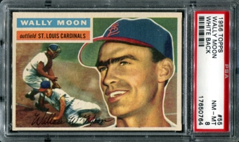 1956 Topps Baseball #55 Wally Moon PSA 8 (NM-MT) *0764