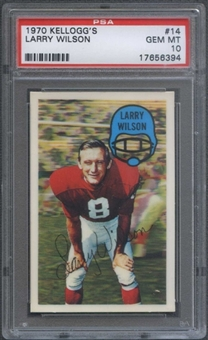 1970 Kellogg's Football #14 Larry Wilson PSA 10 (GEM MT) *6394