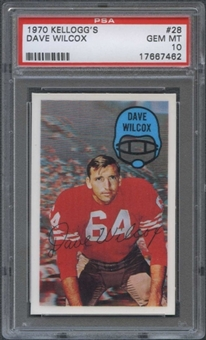 1970 Kellogg's Football #28 Dave Wilcox PSA 10 (GEM MT) *7462
