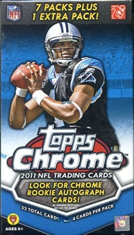 2011 Topps Chrome Football 8-Pack Box