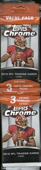 2012 Topps Chrome Football Value Rack Pack (Lot of 12)