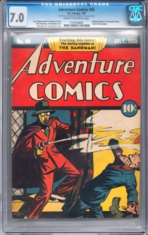 Adventure Comics #40 CGC 7.0 (C-OW) *1107294001