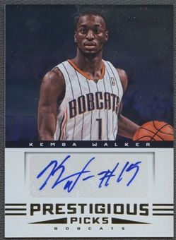 2012/13 Prestige #8 Kemba Walker Prestigious Picks Signatures Rookie Auto