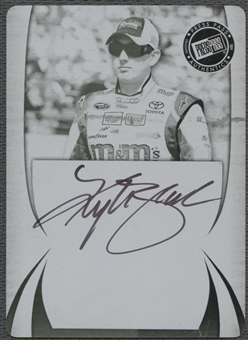 2011 Press Pass #11 Kyle Busch Printing Plate Black Auto #1/1