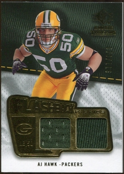 2008 Upper Deck SP Rookie Threads Flashback Fabrics 99-115 #FFAH A.J. Hawk /115