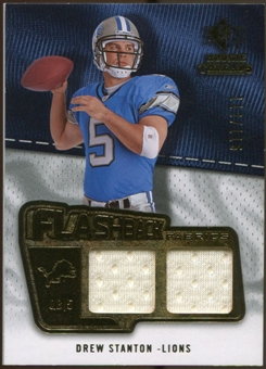 2008 Upper Deck SP Rookie Threads Flashback Fabrics #FFDS Drew Stanton /115
