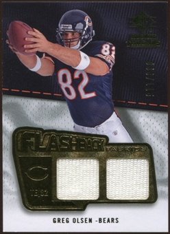 2008 Upper Deck SP Rookie Threads Flashback Fabrics #FFGO Greg Olsen /115
