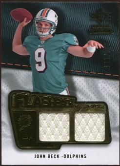 2008 Upper Deck SP Rookie Threads Flashback Fabrics #FFJB John Beck /115
