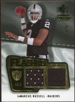 2008 Upper Deck SP Rookie Threads Flashback Fabrics 99-115 #FFJR JaMarcus Russell /115
