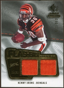 2008 Upper Deck SP Rookie Threads Flashback Fabrics #FFKI Kenny Irons /115