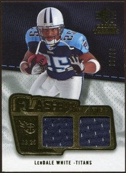 2008 Upper Deck SP Rookie Threads Flashback Fabrics #FFLW LenDale White /99