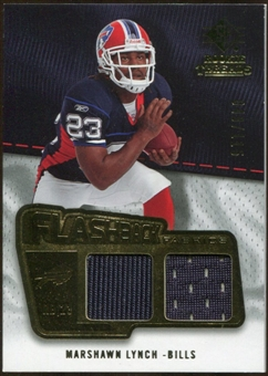 2008 Upper Deck SP Rookie Threads Flashback Fabrics 99-115 #FFLY Marshawn Lynch /115