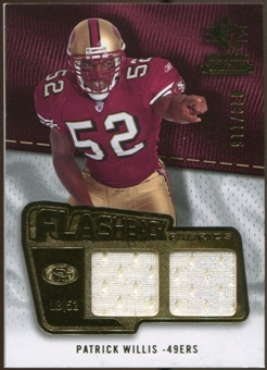 2008 Upper Deck SP Rookie Threads Flashback Fabrics 99-115 #FFPW Patrick Willis /115
