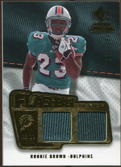 2008 Upper Deck SP Rookie Threads Flashback Fabrics #FFRO Ronnie Brown /115